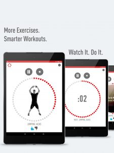 7 minute workout allows more exercises, smarter workours, watch it do it