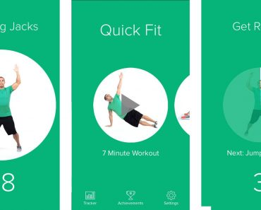 7 minute workout allows jumping jacks, quick fit, get ready for a workout