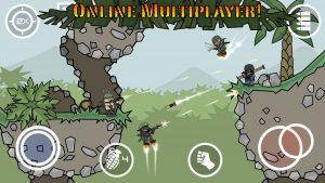 Mini Militia supports multiplayer