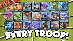 Clash of Clans mod apk every troop several cahracters