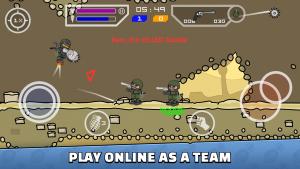 Mini Militia has online and team feature