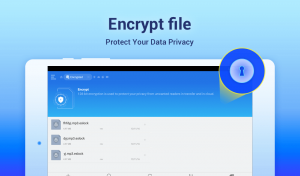 encrypt files and protect your data privacy in ES file explorer