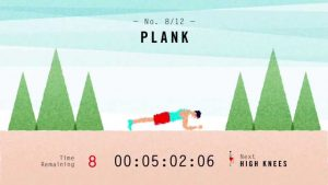 with 7 minute workout you can do planks