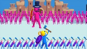 Join clash 3D pink and blue stick figures
