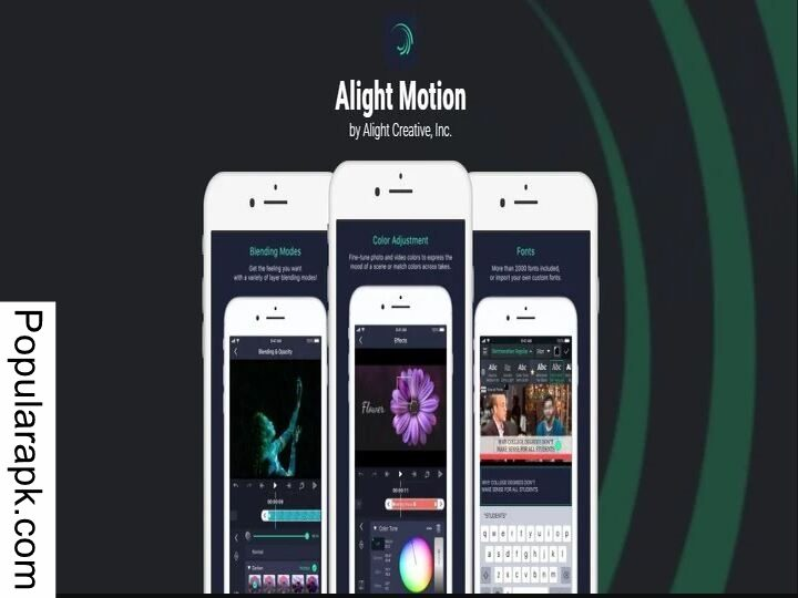 Alight Motion Pro mod apk is made by alight creative incorporated.