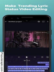 make video lyics status with alight motion pro