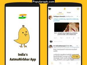 India's AatmaNirbhar App, feed shows people.