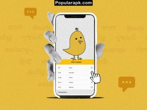 select language screen inside the phone