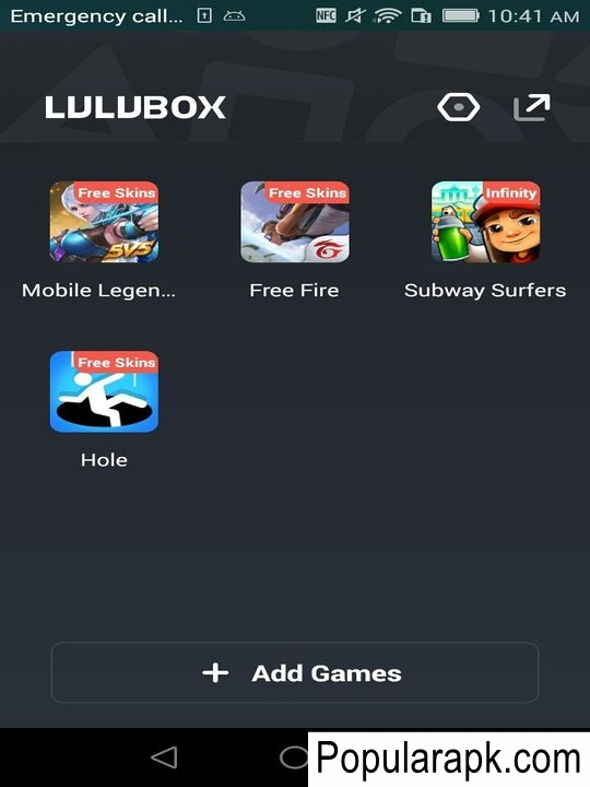 add and play other games using the catalogue of games in the app