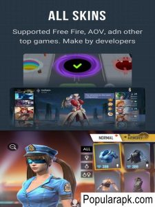 all skins, supported free fire in lulubox mod apk