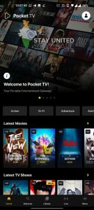 welcome to pocket TV home page.