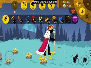 be the king with crown in stick war