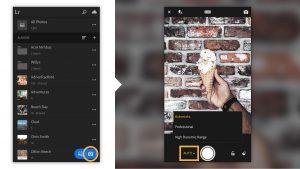 use camera in files in adobe lightroom mod