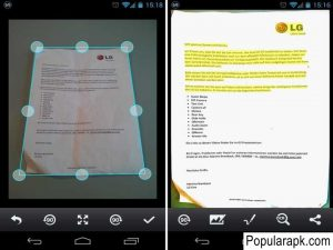 rotate, back, expand documents camscanner pro mod apk