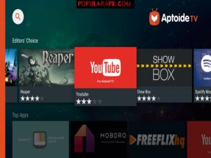 download apps directly from aptoide to your Television.