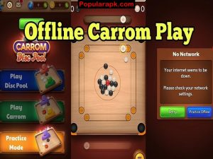 play carrom game offline and online with friends.