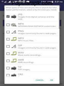 convert file formats to save on precious space.