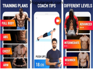 Home Workout mod apk with beginner, intermediate, and advanced levels of training.
