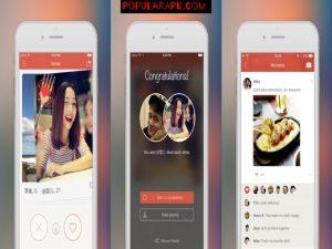 three screenshots of tantan app in one.