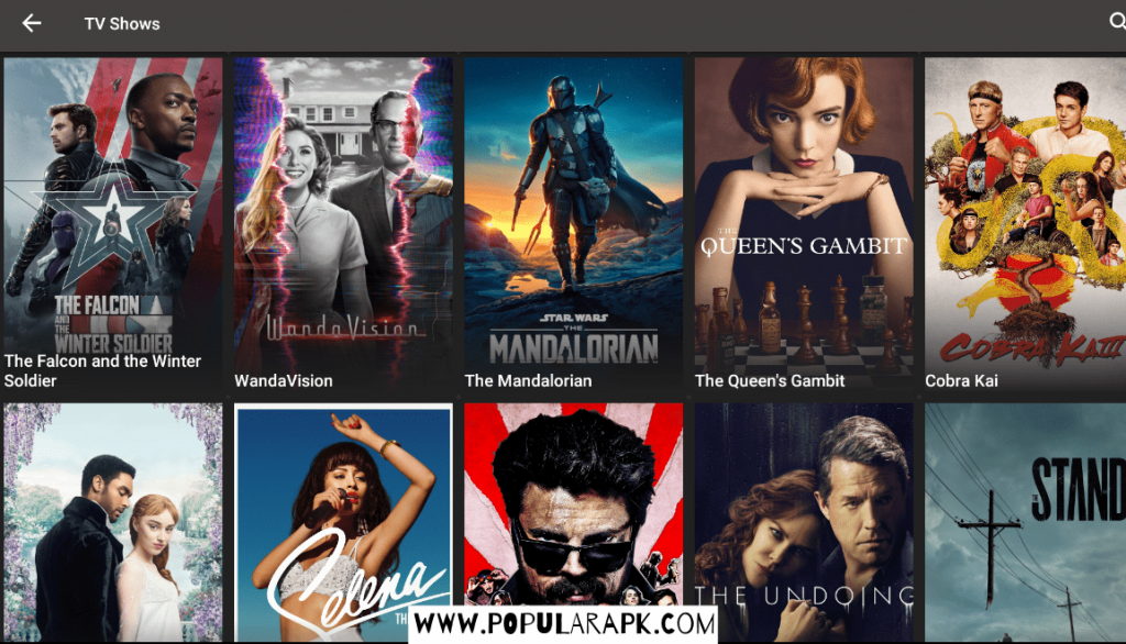 you can see that netflix is working with shows and movies ready to be watched for android TV.