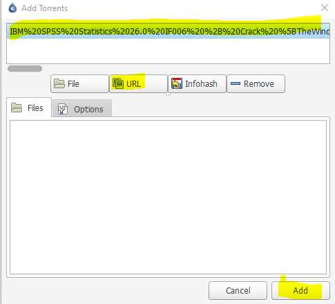 add the torrent file by sense check on the name.