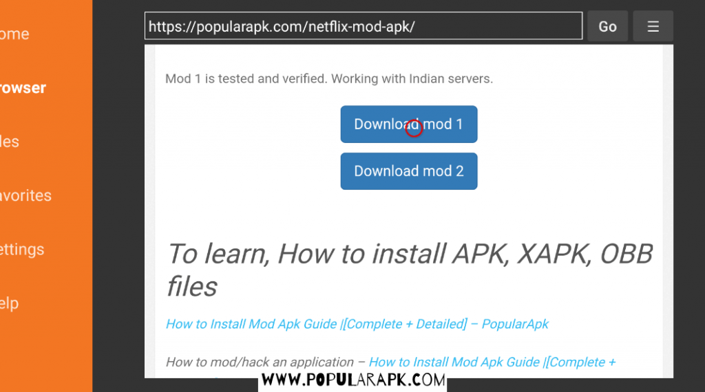 click on download button to download the mod apk from popularapk.com