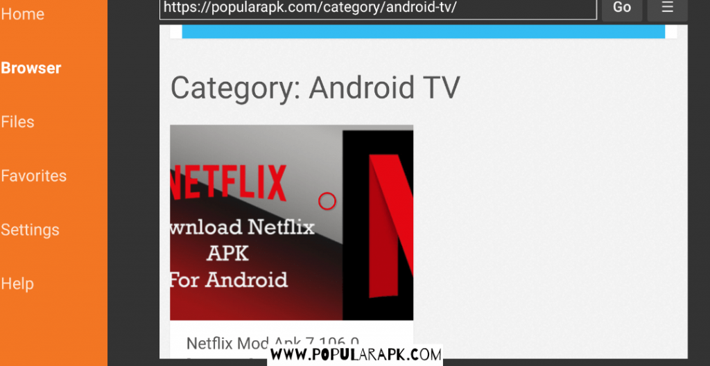 search for TV apps in the category.