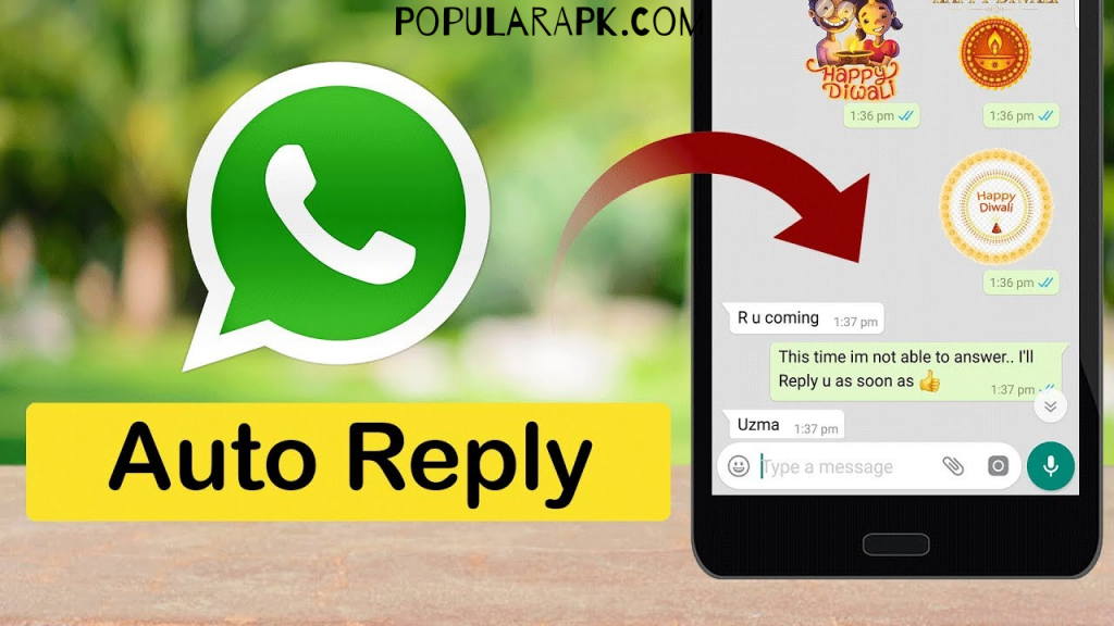you can make a rule. in this rule you can set if you recieve the message containing the words good morning, the app will give auto reply.
