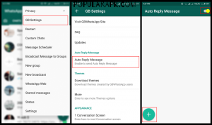 auto responding is also present in gbwhatsapp but it is not advanced.