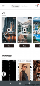 Storychic mod apk has effects which are categories.