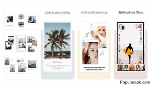 create your stores with animated template and use stylish photo filters in storychic.