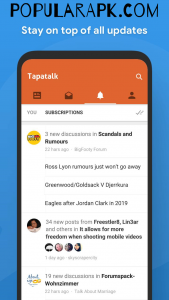 Tapatalk Pro Mod Apk subscription feature if great