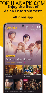 all in one app called as viu for korean drama and movies.
