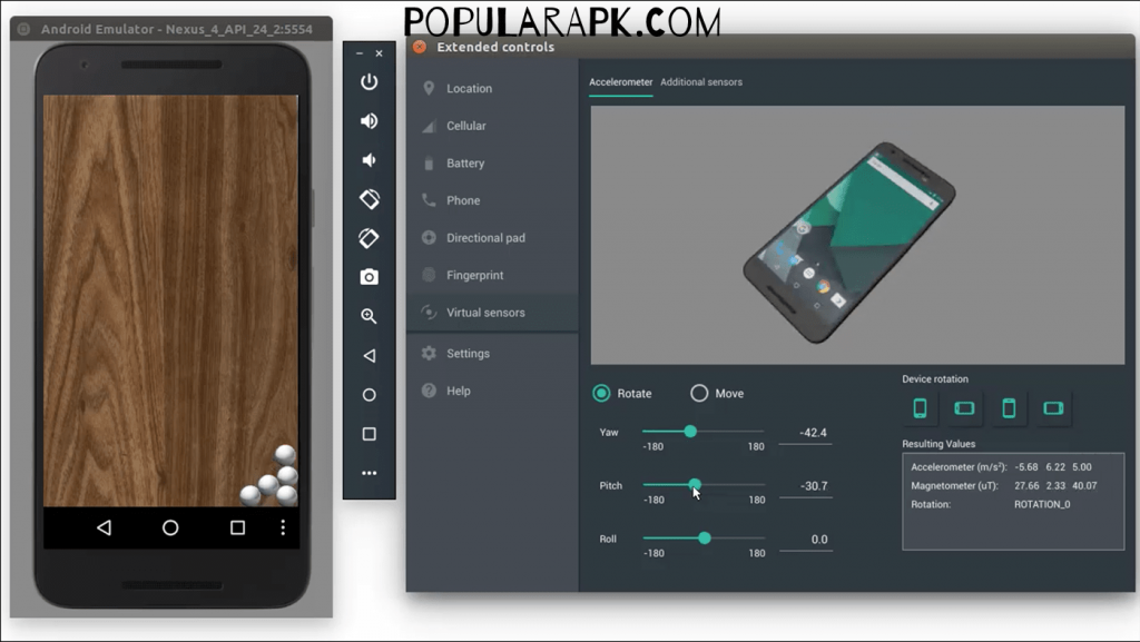 use android studio for pure droid experience on laptop