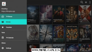 filmplus has segregated movies and TV show categories.