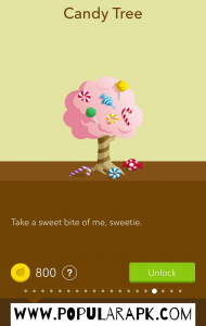 there are several trees like candy tree.
