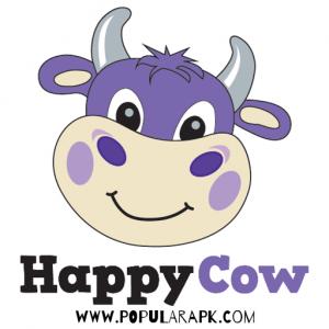Happycow App - logo with symbol
