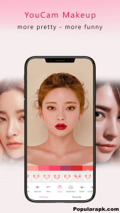 In YouCam Makeup mod apk there is an awesome feature of real time makeovers.