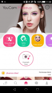 Easy and simple with youcam makeup app