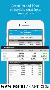 see labor summary inside the app.