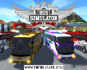 Bus Simulator ID, with 4 different busses show off.